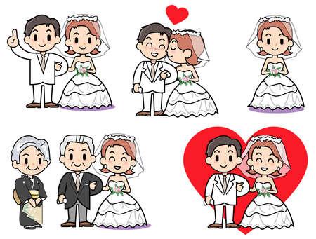 road of love: Bridal set  Stock Photo