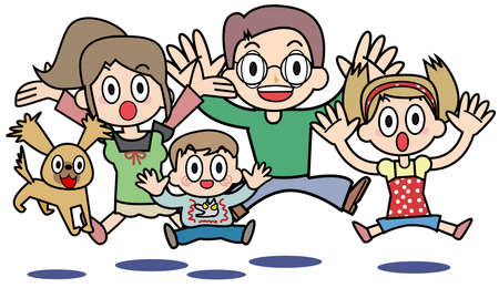 Family who is surprised Stock Photo - 15300420