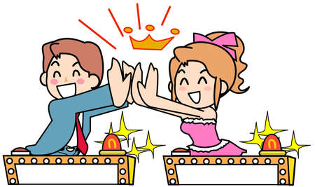 high five: Two Respondent - High five Stock Photo