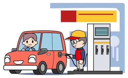 サービス ステーション - 給油