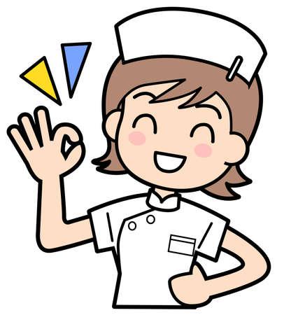 medical drawing: Nurse-OK
