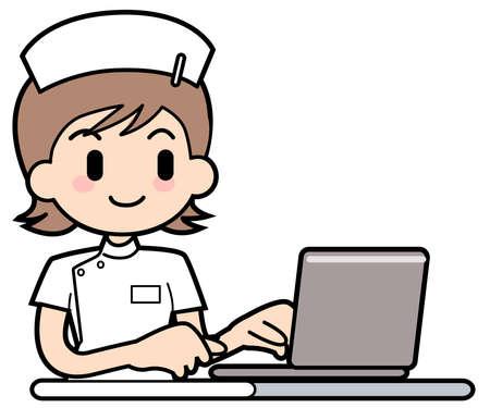 Nurse-PC Stock Photo - 15312596