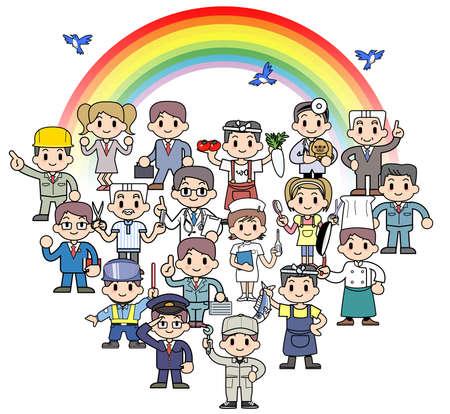 Rainbow spirited Society Stock Photo