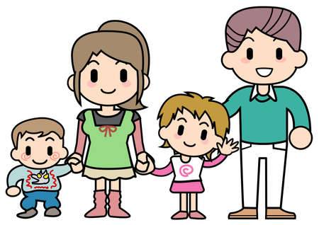 Four families Stock Photo - 15344369