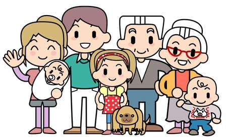 Big family Stock Photo - 15344375