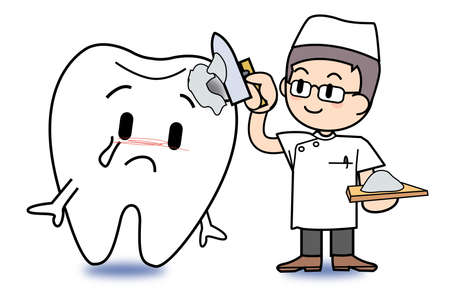 치과 의사의 치료 이미지