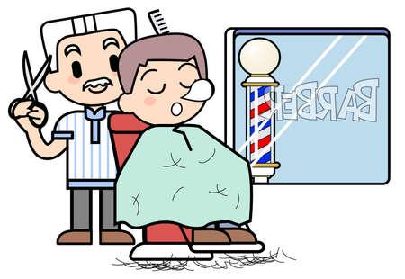 散髪作業中に 写真素材 - 15344550