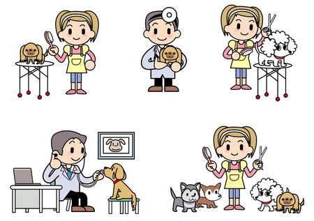 cat grooming: Veterinarian Dog groomer Stock Photo