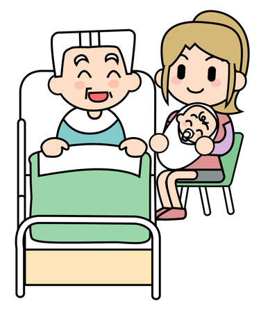 definite: Old man care-baby meeting