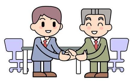 established: Office worker-Business talk establishment