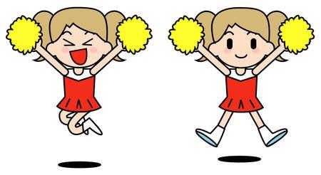 Cheer leader-Jump 版權商用圖片