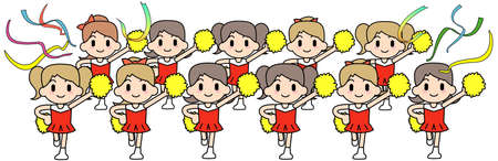 plural number: Cheer leader Team Stock Photo
