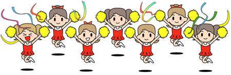 plural number: Cheer leader Team-Jump