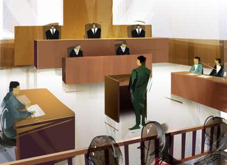 jurado: Tribunal Foto de archivo
