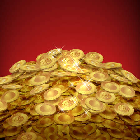 Heap of gold coins photo