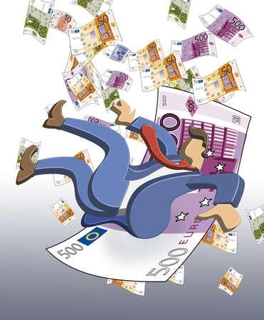 effondrement: 3D-Euro effondrement