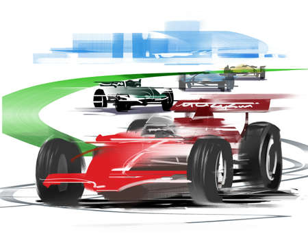 adrenalin: car race Stock Photo