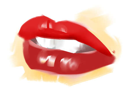 lipstick kiss: Lips