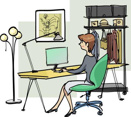 soho: At-home work Stock Photo