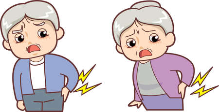 low back: Old man - low back pain