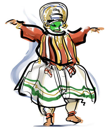 kathakali: It is the mask dance drama that developed in Kerala, India