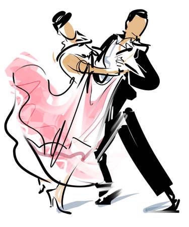 tanzen paar: Walzer Lizenzfreie Bilder