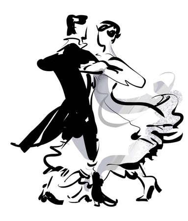 pareja bailando: Vals