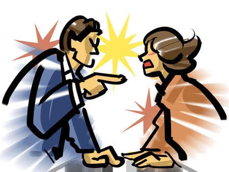 disturbance: Quarrel Stock Photo