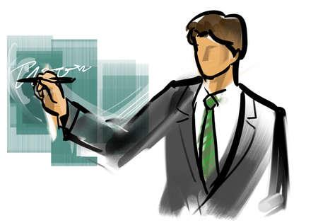 commentary: Description - Business Man Stock Photo