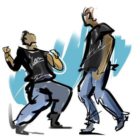 footwork: Break dance