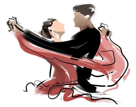 pareja bailando: Danza Social Foto de archivo