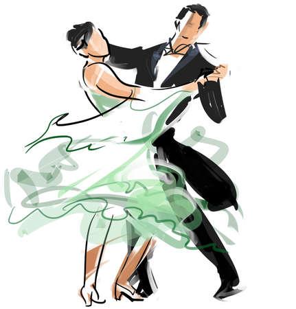 couple dancing: Danza Social Foto de archivo