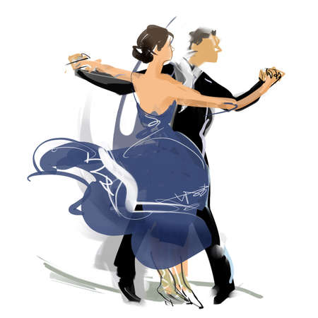 dance time: Social dance Stock Photo