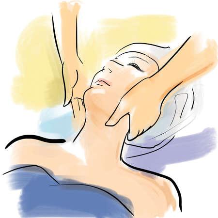 Face beauty treatment salon photo