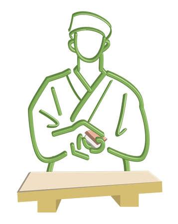 stubbornness: Sushi craftsman