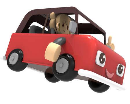 pleasant: Pleasant car - Red Stock Photo