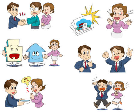 It is a procedure of the real estate purchase Stock Vector - 16424192