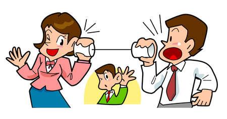 Thread telephone Stock Photo - 17447382