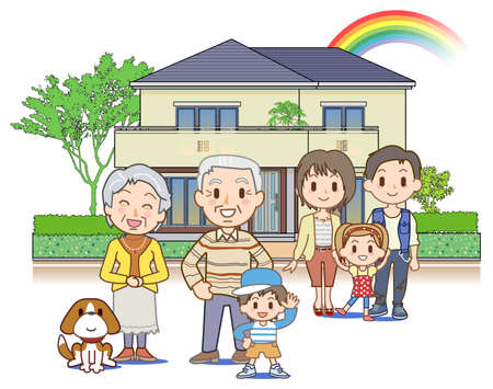 Three-generation family Stock Photo - 17709819