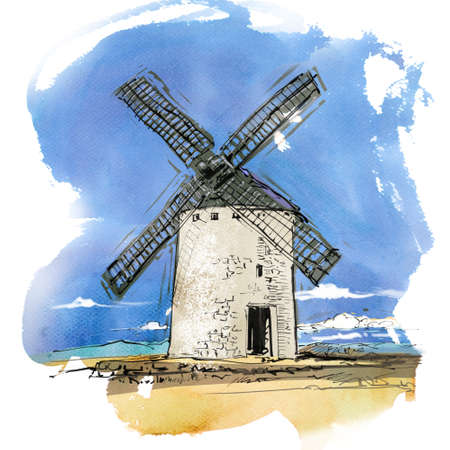 calm down: Spanish windmill