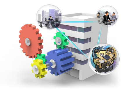 Cooperation in the company Stock Photo