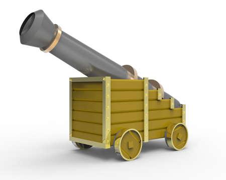 bombardment: Cannon Stock Photo