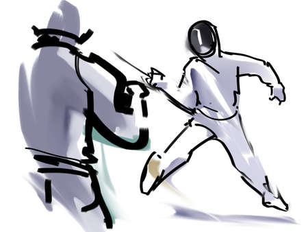 stab: Fencing Stock Photo