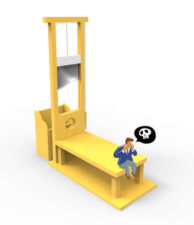 officeworker: Guillotine Stock Photo