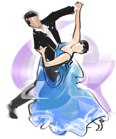 Dance-Slow Foxtrot Stock Photo