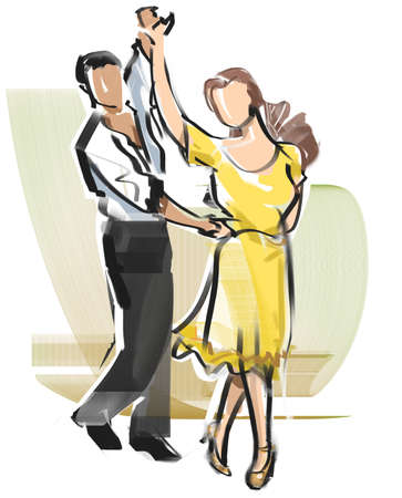Dance-Square rumba Stock Photo