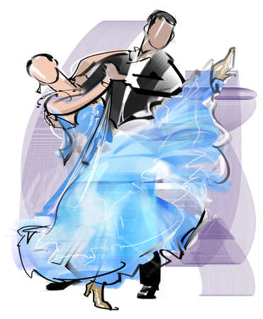 Dance - Waltz Stock Photo