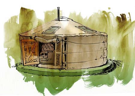 dwelling: paoMongolian dwelling