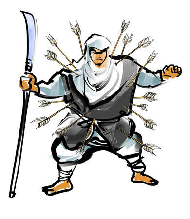 halberd: tuck of Benkei Stock Photo