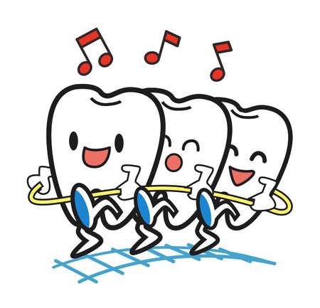crooked teeth: Clean teeth